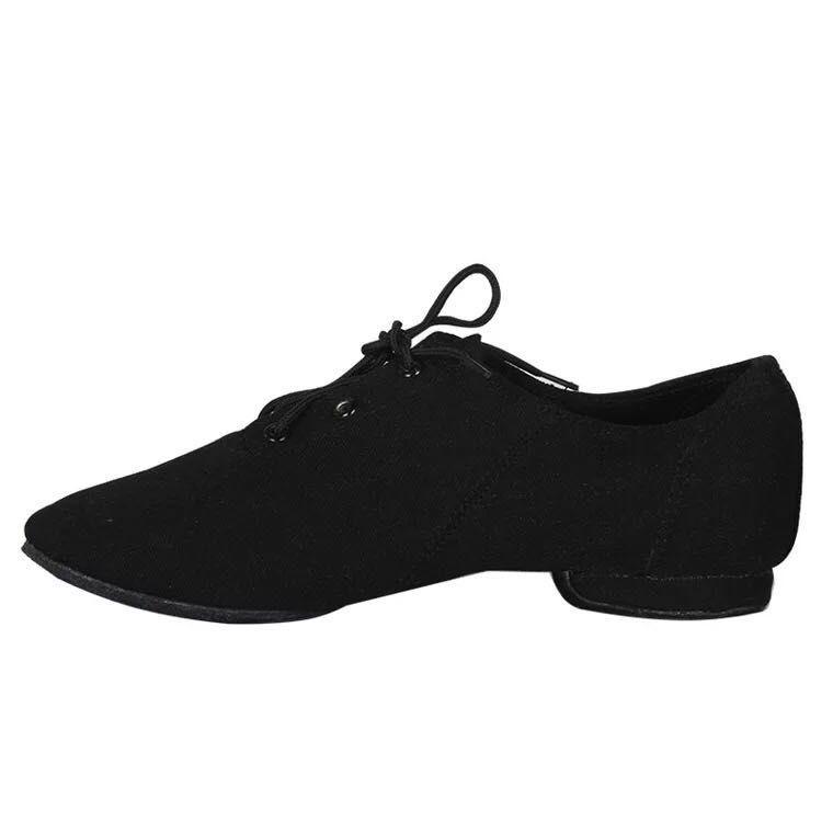 02b1a9ec851 Ниски обувки за танци от плат с връзки