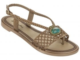 Златисти дамски сандали