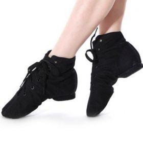 fde8ce6d5ed Високи обувки за танци и джаз от плат в черен цвят ...