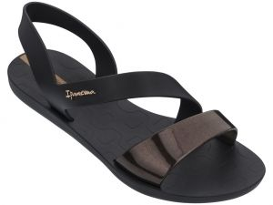 Сандали в черно на Ipanema Black/gold black K82429